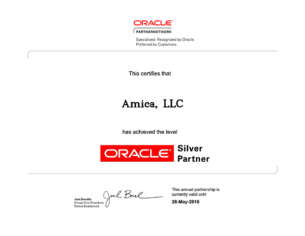Oracle Partner Amica