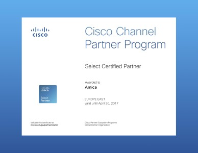 Cisco Select компании Амика